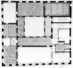 palazzo floor plan | Palazzo Medici Riccardi: plan of the first floor with the ceilings ...