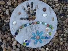 Our 6-year old granddaughter made this stepping stone.