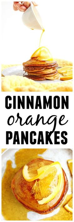 Buttermilk cinnamon orange pancakes recipe! These crispy, old fashioned pancakes are made with buttermilk and a hint of orange and cinnamon. YUM! The perfect holiday breakfast! // Rhubarbarians