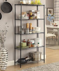 Look at this Black Five-Tier Storage Rack on #zulily today!