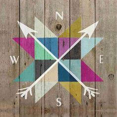 Compass Accent Art- 12x12 in.