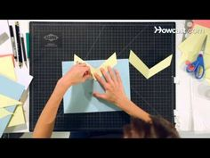 How to Make a V-Fold Lifter | Pop-Up Cards - YouTube