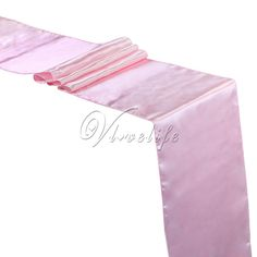 """5PCS New Light Pink /Baby Pink Satin Table Runners 12"""" x 108'' Wedding Party Banquet Home Hotel Decorations 30cm x 275cm Sale Only For US $8.49 on the link"""