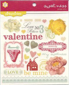 PinkPaislee    Press On    Love Rub On's   by CynthiasCraftingNook