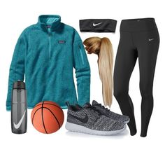 """Basketball Practice"" by chevron-volleyball ❤ liked on Polyvore featuring NIKE and Patagonia"