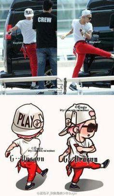 Cute #GD exercising hehe