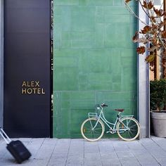 """This weekend we'll take a look inside the Alex Hotel, Perth. Designed by interior design firm Arent&Pyke and Architects Space Agency lobby # bistro Architecture Design, Facade Design, Exterior Design, Bar Restaurant, Restaurant Design, Design Hotel, Commercial Interior Design, Commercial Interiors, Alex Hotel"