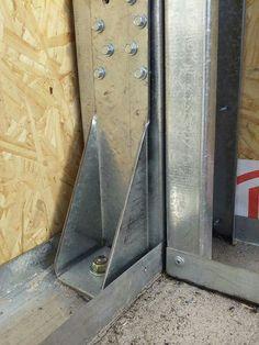 Steel Frame House, A Frame House, Steel House, Metal Stud Framing, Steel Framing, Vinyl Siding Installation, Concrete Formwork, Roof Truss Design, Tyni House
