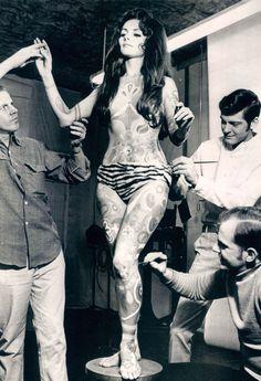 1969, gogo dancer, black and white, vintage