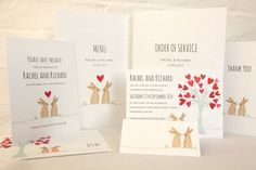 Bunnies Wedding Invitation