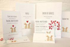 Bunnies Wedding Invitation