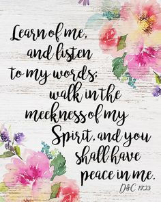 """A Pocket full of LDS prints: 2018 Mutual Theme """"Peace in Me"""" D&C 19:23 - FREE PRINTS"""