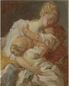 Fragonard, Mother's Kisses, ca. 1777