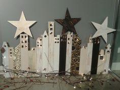 La mia città con addobbi natalizi