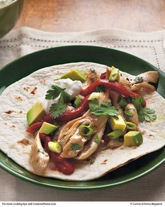 Baja Chicken Fajitas | Cuisine at home eRecipes