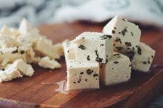 tofu feta #vegan for greek salad with mushroom walnut souvlaki | RECIPE on hotforfoodblog.com