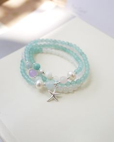 New Arrival 2013 Hand for small fresh small bead beaded crystal natural stone 925 silver multi-layer bracelet necklace $22.27