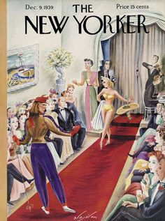 Vintage Illustration The New Yorker December 9 1939 - The New Yorker December 9 1939 The New Yorker, New Yorker Covers, Vintage Comics, Vintage Posters, Vintage Ads, Vintage Images, Creepy Comics, Magazine Art, Magazine Covers