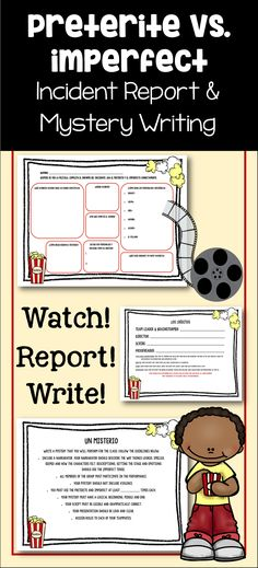 Preterite And Imperfect Mystery Project And Incident Report With