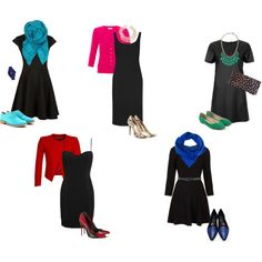 Tips for making an LBD look amazing! Cool brights can work with black.