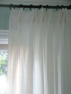 Ikea Curtain Hack. Diy Euro Pleat...If I Could Afford, Professionally Sewn,  European Linen