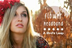 DIY A flower headband crown halo in a matter of minutes, and wear it in so many different ways.