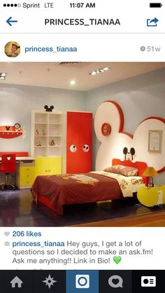 Mickey Mouse Bedroom Furniture Set | Interior Design Ideas ...