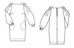 Robe 123A - Burda mars 2014 - Schéma du modèle - burdafashion.com