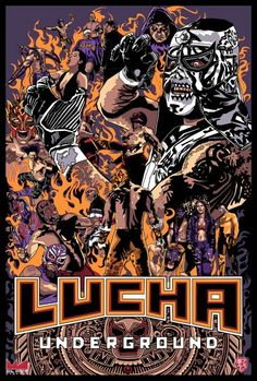 The Art of Lucha Libre Wrestling Posters, Wrestling Wwe, Combat Zone Wrestling, Blue Demon, World Championship Wrestling, Best Wrestlers, Lucha Underground, Hollywood Undead, Wwe World