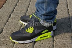 Nike Air Max 90 Essential Sail Teal Blue Yellow Men Run