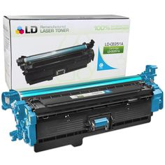 Remanufactured Replacement Laser Toner Cartridge for CE251A (HP 504A) Cyan: Save money with our remanufactured cyan laser toner cartridge…