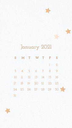 January Wallpaper, Calendar Wallpaper, Winter Wallpaper, Star Wallpaper, Homescreen Wallpaper, Cellphone Wallpaper, January Calendar, Cute Calendar, 2021 Calendar