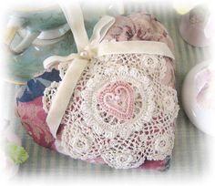 Heart Sachet Sachet Heart Floral Decorator by CharlotteStyle, $13.50