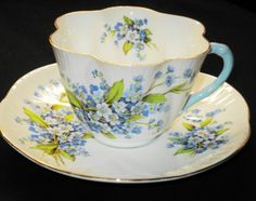 SHELLEY FORGET ME NOT DAINTY TEA CUP AND SAUCER
