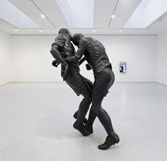 Zidane's Infamous World Cup Headbutt Immortalized by Algerian sculptor Adel Abdessemed.