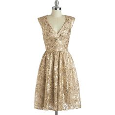 ModCloth 20s Mid-length Cap Sleeves Fit & Flare Twinkling at Twilight... (705 PLN) ❤ liked on Polyvore featuring dresses, vestidos, short dresses, modcloth, gold, apparel, gold dress, paisley print dress, sequin party dresses and sequin dresses