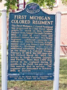 Today in Black History, 4/12/2013 - On April 12, 1968, a Michigan Historical Marker was installed in Detroit commemorating the First Michigan Colored Infantry. For more info, check out today's notes!