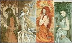 4°€lemental Goddesses: Earth • Air • Fire • Water - by LigaMarta (nolink):