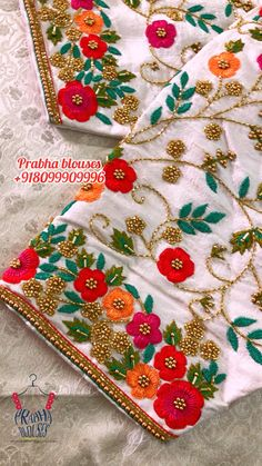 White Blouse Designs, Traditional Blouse Designs, Cutwork Blouse Designs, Hand Embroidery Designs, Hand Work Design, Hand Work Blouse Design, Stylish Blouse Design, Maggam Work Designs, Saree Blouse