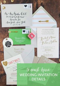 Don't forget these details when writing out your #wedding invitations!