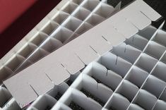 A simple DIY lipstick storage idea which would work perfect for small bottles of stickles or glitters!