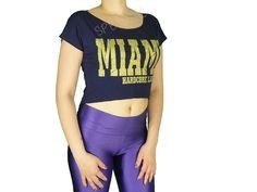 Blusas Femininas | Blusa Cropped Miami Azul Marinho  Acesse: http://www.spbolsas.com.br/atacado/ #Regatas #Femininas #Atacado