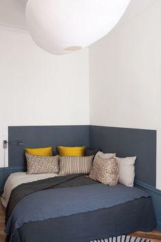 Un lit dans un angle - Marie Claire Maison