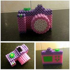 3D camera hama beads by lavori_handmade_
