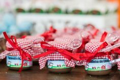 Farm Party-Thought it would be cute to put ice cream in baby jars, etc