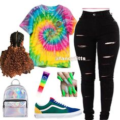Fashion 2019 New Moda Style - fashion Black Girl Magic, Black Girls, Swag Outfits, Fashion Outfits, How To Wear Vans, Rainbow Shoes, Vans Outfit, Cardi B, Clothes For Sale