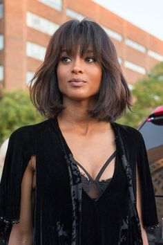 Medium Bob Hairstyles Women's Natural Straight Human Hair Wigs With Bangs Lace Front Wigs Messy Bob Hairstyles, Medium Bob Hairstyles, Celebrity Hairstyles, Wig Hairstyles, Pixie Haircuts, Hairstyle Ideas, Wedding Hairstyles, Bobs For Thin Hair, Short Hair With Bangs