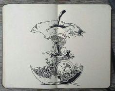 Moleskine art by Gabriel Picolo