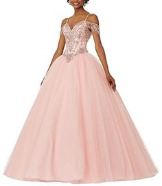 1fb3fdab34 KISSBRIDAL Womens Tulle Beading 2017 Prom Ball Gown For Teenagers Girls --  Click for more