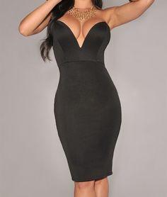 Vestido Negro de Fiesta Night